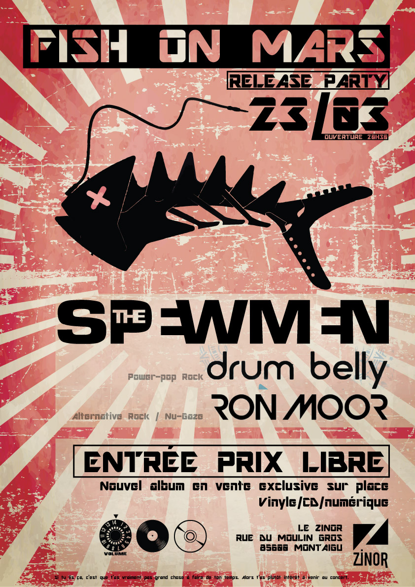 Release Party de Fish on Mars de The SPEWMEN