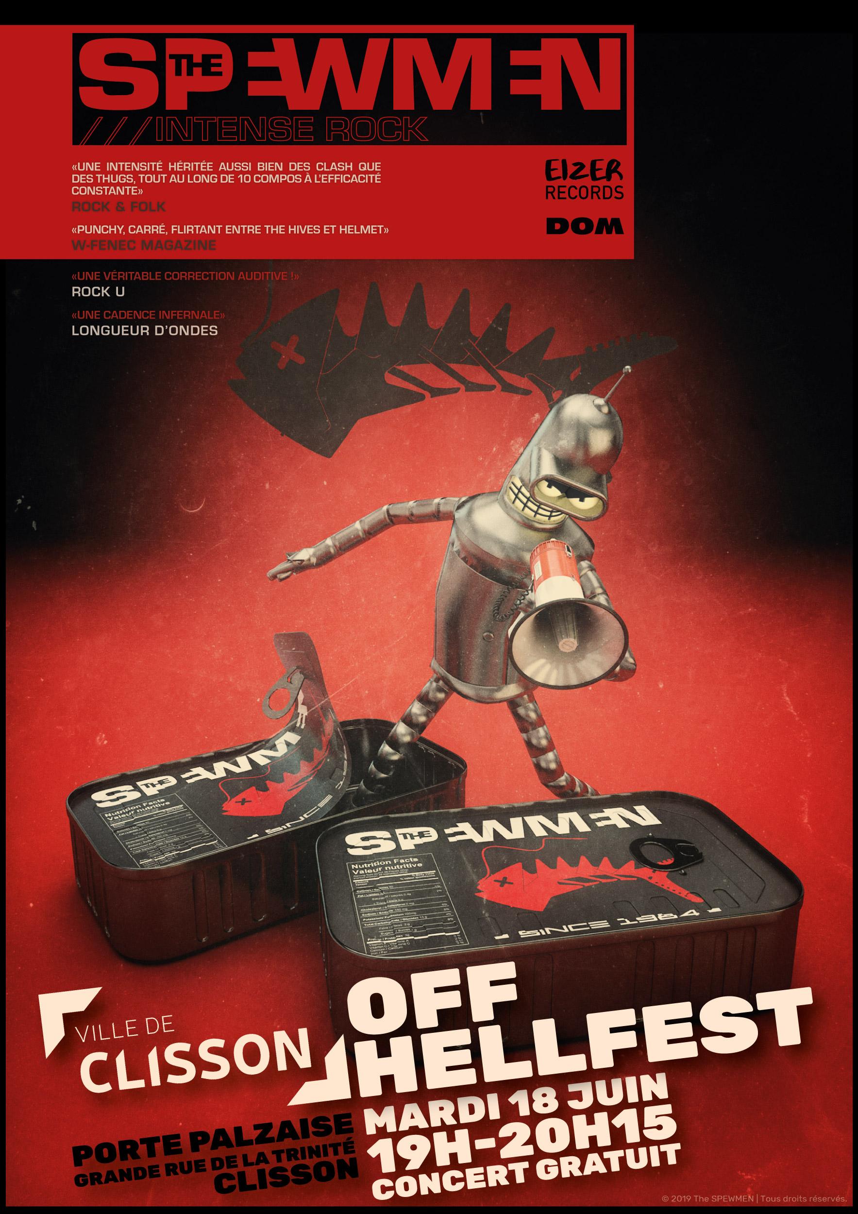 The SPEWMEN en concert pour le Off-Hellfest de la Ville de Clisson